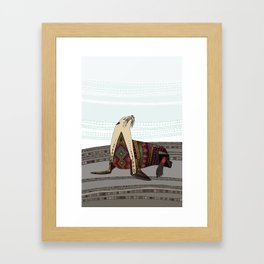 sea lion mono Framed Art Print
