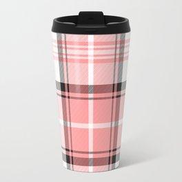 Pink Tartan Travel Mug