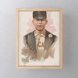 James Ryan, Baseball Player, Center Fielder, Chicago, from World's Champions, Series 2 (N29) for All Framed Mini Art Print
