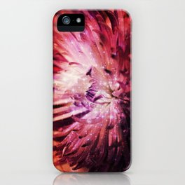Flower Galaxy iPhone Case