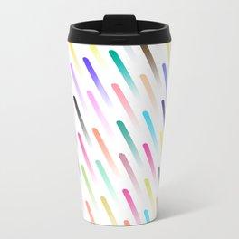 Neon Rain Metal Travel Mug