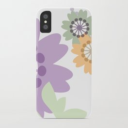 Flowers and Swirls iPhone Case