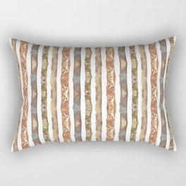earth stripes Rectangular Pillow