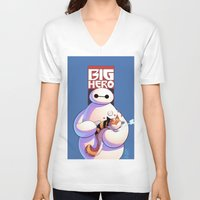 big hero 6 V-neck T-shirts featuring Baymax - Big Hero 6 by J Skipper