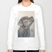 lab Long Sleeve T-shirts featuring Chocolate Lab by Samicam