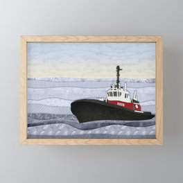 Tugboat Framed Mini Art Print