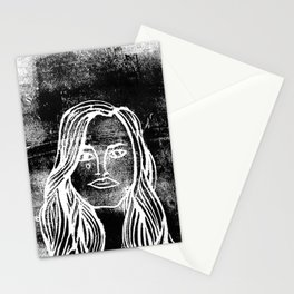 untitled girl Stationery Cards