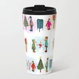 Cozy Kid Unicorns Pattern Travel Mug