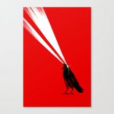 Laser Crow Canvas Print