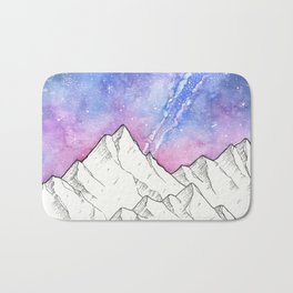Mountains in the Evening Bath Mat