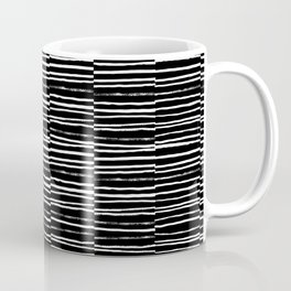 Paint brush free spirit pattern boho minimal black and white modern art abstract painting urban deco Coffee Mug