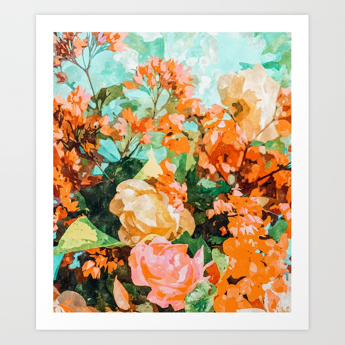 Blush Garden #painting #nature #floral Art Print