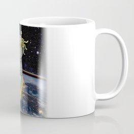 Flying Spaghetti Monster Earth Space Stars Rocket Atmosphere Coffee Mug