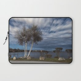 Birch tree by the pond Laptop Sleeve