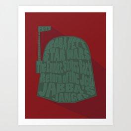 Boba Fett Typography Art Print