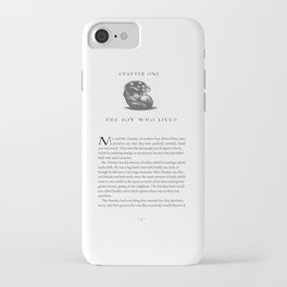 Sorcerer's Stone Chapter One Page One iPhone Case