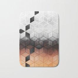 Ombre Concrete Cubes Bath Mat