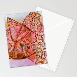 Something Jurassic In Pink & Brown Stationery Cards