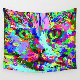 Pop Art Kitten Wall Tapestry
