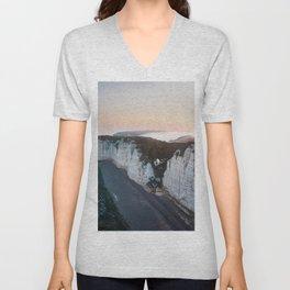 Chalk Cliffs of Étretat, Normandy France Unisex V-Neck