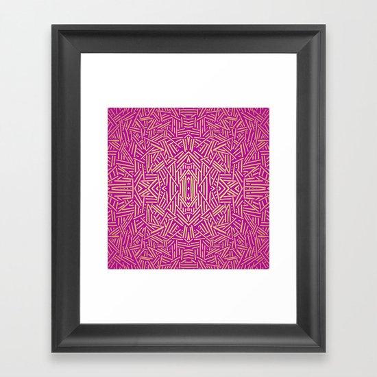 Radiate (Yellow/Ochre Raspberry) Framed Art Print