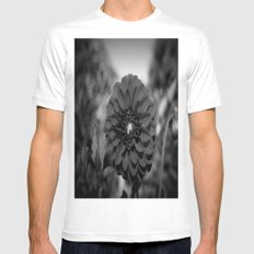 Dark Dahlia White SMALL Mens Fitted Tee