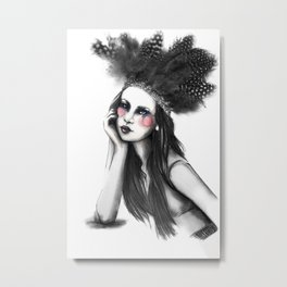 Show Girl Metal Print