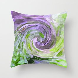 Abstract Waves watercolor abstract Throw Pillow