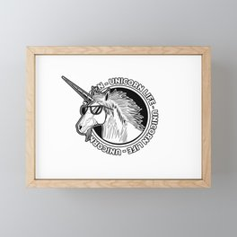 Unicorn Life Framed Mini Art Print