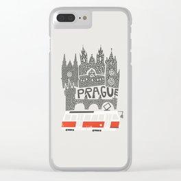 Prague Cityscape Clear iPhone Case