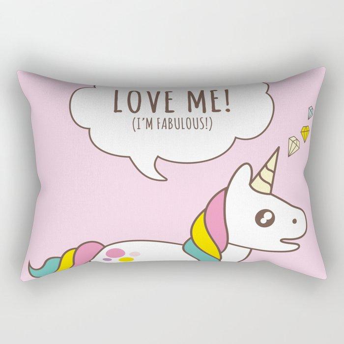 Valentine's Day - Love Me Unicorn Rectangular Pillow