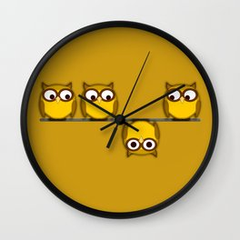 A whole new perspective for the owl Wall Clock