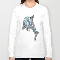dolphin Long Sleeve T-shirts featuring Dolphin by PepperDsArt