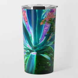 PEACOCK NATURE CORAL-BLUE GARDEN ART Travel Mug