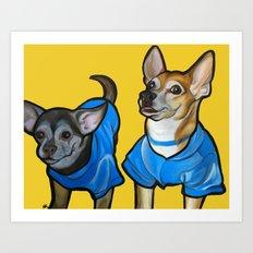 Winston and Chloe the Chihuahuas Art Print