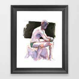 RYAN, Semi-Nude Male by Frank-Joseph Framed Art Print
