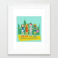 sex and the city Framed Art Prints featuring Sex and the Emerald City by NBdesign