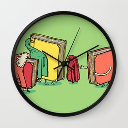 Book Jackets Wall Clock