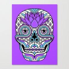 Lotus Skull Canvas Print