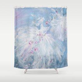 Tutus' in Aqua Shower Curtain