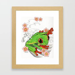 rainforest frog Framed Art Print