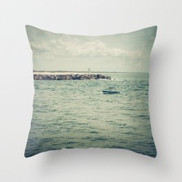 Boating By The Spit Throw Pillow