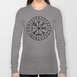 Vegvisir with futhark Long Sleeve T-shirt