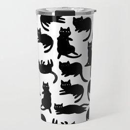 Black Cat Poses Travel Mug