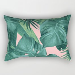 Tropical Summer Jungle Leaves Dream #1 #tropical #decor #art #society6 Rectangular Pillow