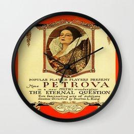 Vintage Twenties Film Advert Wall Clock
