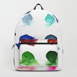Rainbow Ink Swatch Splotches Painting Backpack