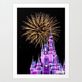 Magic Kingdom - Fireworks Art Print