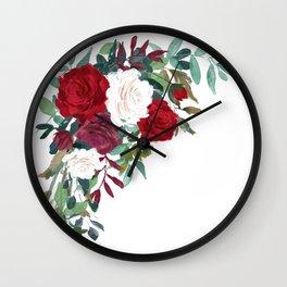 Floral Corner Arrangement Wall Clock