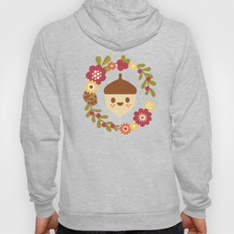 Acorn and Flowers / Blush Pink Hoody